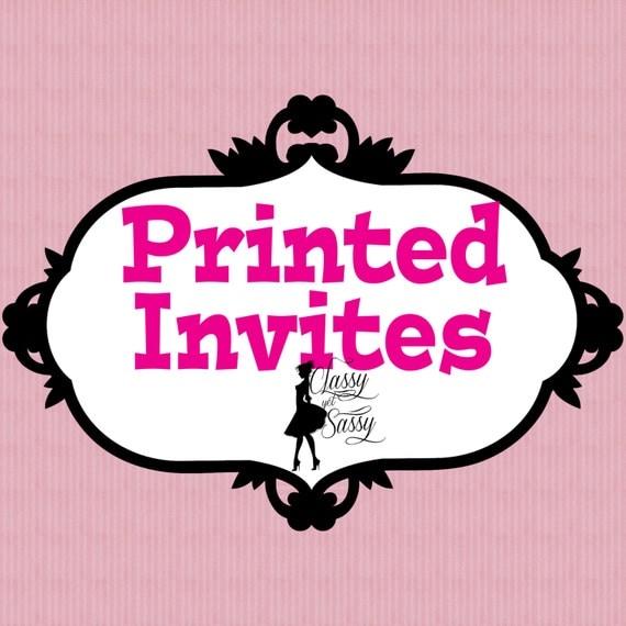 5x7 printed invites