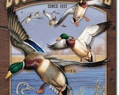 Vintage Style Tin Sign, Ducks unlimited collectible tin sign, man cave, hunting, garage decor, wall hanging