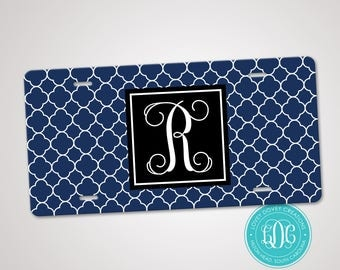 Personalized License Plate, Monogram License Plate, Monogrammed Car Tag, Preppy Car Tag, Sweet 16 gift