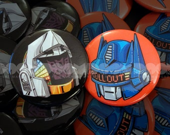 """Robots After All  1.5"""" Button Pin Set FREE Shipping"""