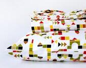 Modern toddler bedding - organic duvet cover set - TWIN duvet cover - comforter - big boy bedding -  gender neutral duvet cover