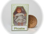 Little Miss Phoebe, dolls house miniature toy doll in a box. A dolly for your dolls house doll.