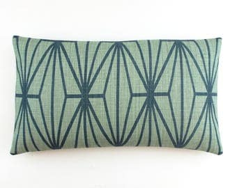 ON SALE Kelly Wearstler Katana in Jade/Teal Pillow (Both Sides-14 X 24)