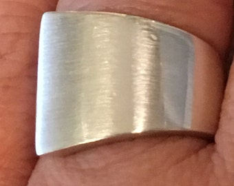 DANISH MODERN STERLING Silver Heavy 8.0 grams Brushed Band Size 8 Ring