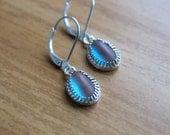 Saphiret Saphirine Earrings - Sterling Silver Little Dangle Drops Charms