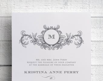 Monogram Wedding Invitations, Printable Wedding Invitations, Monogram Invitations, Save the Dates, Invitation Printable, Invitation Template