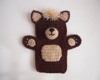 Crocheted Handmade Teddy Bear Hand Puppet
