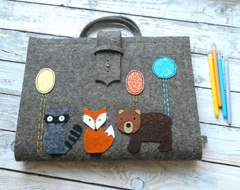 Artist Tote (A/4) with forest animals