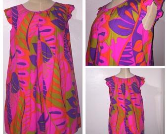 Hawaiian Mod Retro Hippie 1960s Dress