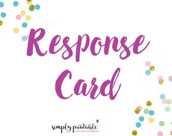 Response Card to Match Invitation