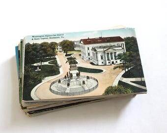 SALE - 100 Vintage Virginia Postcards - DAMAGED