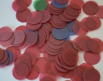 Vintage Red Plastic Game Bingo Pieces