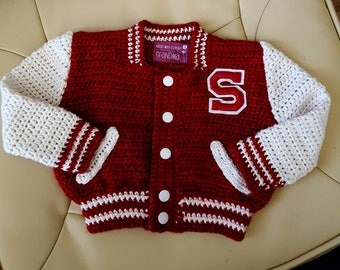 Personalized  Little Boy's Letterman Jacket - MADE TO ORDER