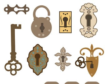 key clipart, lock clipart, key illustration, lock illustration, key and lock clipart, key clip art, lock clip art, digital download