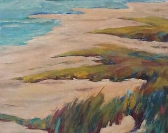 "Sea Shore 30""x24""Original Seascape Painting"