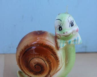 Vintage Single Enesco Ceramic Snail, Snappy the Snail, As is