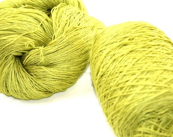 Mulberry silk hand dyed yarn Dazzle