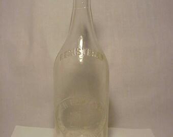 c1890-1900 C. H. Eddy & Co. Brattleboro, VT. , Scarce Quart Size Crown Top Blown Glass Soda Bottle