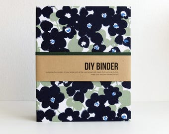 Binder Planner 6x8 (A5 sized) 2-Ring Folder with 2 FREE Refill Packs - Blue Iris