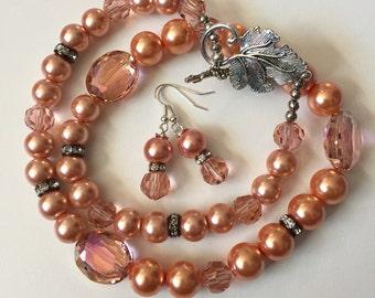 Peach Peach Necklace