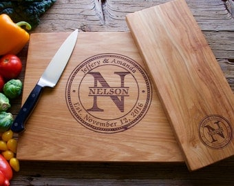 Personalized Cutting Board Set, 12x15 and 6x15, Engraved Cutting Board, Personalized Wedding Gift, Wedding Gift, Housewarming Gift