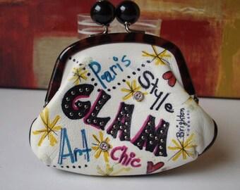 BRIGHTON Coin Purse Glam Art Paris Chic Style