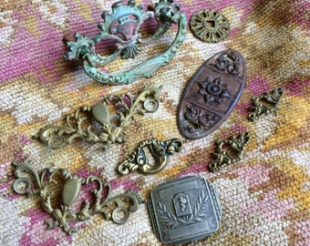 A Wonderful Collection Of Antique Hardware And Findings