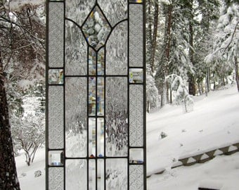Elegant Beveled Stained Glass Window