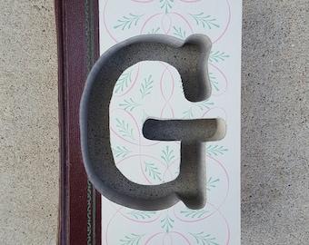 Upcycled Book Letter Decor - Letter G