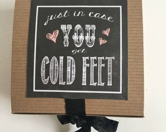 Groom Cold feet Sock Box | Wedding | bridal | Gift Box | Favor | Groom | Happily Ever After