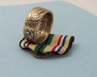 """For the Gulf War Veteran. This is a southwest Asia Campaign medal """"Desert Storm""""  Ring size 10 1/2.  Wear this on those special occasions."""