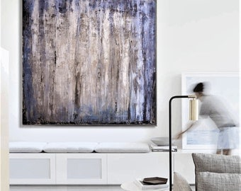 large abstract painting , creme white painting   abstract painting wall art  Jolina Anthony