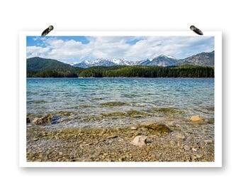 Garmisch Germany, Fine Art Photography, Mountain Prints, Landscape Photos, Water Prints, German Alps Photos, Germany Wall Art, Beach Photos