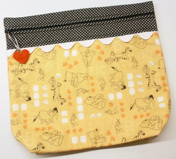 MORE2LUV Pooh and Friends Cross Stitch Embroidery Project Bag