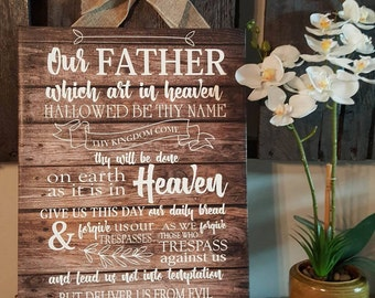 Lord's Prayer Canvas art