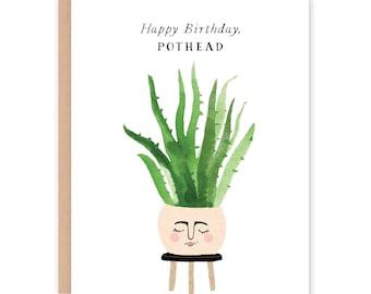Happy Birthday Pothead Card