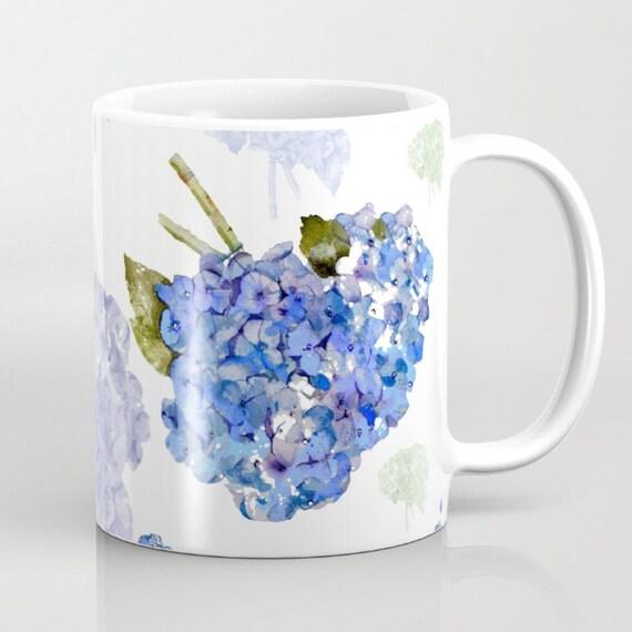Mug, Cape Cod Hydrangea Nosegay mugs, 11 oz and 15 oz