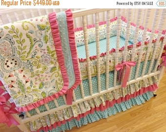SPRING CLEANING SALE--- Baby Bedding Made to Order 4 pc Crib Bedding Set