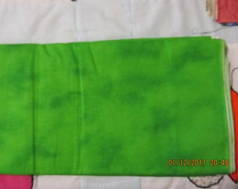 Marbled Shades of Lime Green Hippy Tie Dye Blender 1 Yard Cotton Fabric