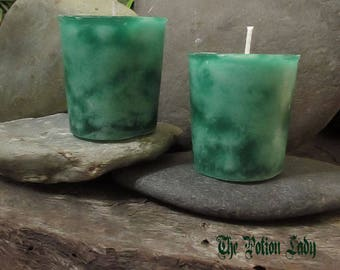 Unscented Green Pillar and Votive Candles