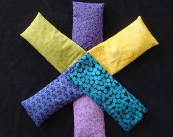 Lot of 6 flaxseed 100% Cotton Eye Pillows with Lavender Buds