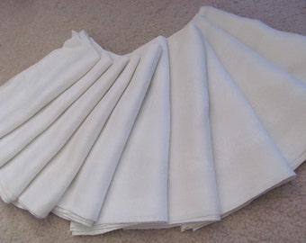 "Napkins Set of 10 Beautiful Cotton Double Damask Dinner Napkins 22"" (01A)"