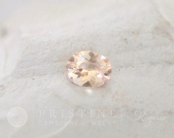 ON HOLD Peach Champagne Sapphire Oval Shape Gemstone for Engagement Ring
