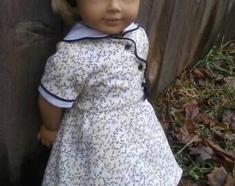 1930s Feedsack Birthday Dress for Kit Ruthie American Girl My Twinn 18 inch dolls