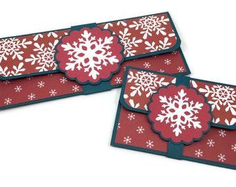Cash envelope, Christmas gift card holder, Christmas cash envelope, money holder, red and green envelope, gift envelope, holiday envelope