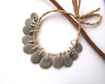 Rock Beads Small Mediterranean Natural Stone River Stone Pebble Diy Jewelry Supplies Pairs SMOOTH GRAY MIX 10-13 mm