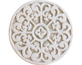 Decorative tile hand painted with mandala design, ceramic tile with swirls,ceramic art,Ceramic tile,Hand painted tile, Mandala 15cm #2 beige