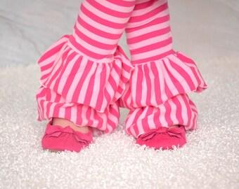 Christmas Candy double ruffle knit pants