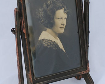 Vintage Wood Swivel Table Picture Frame