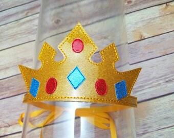 Crown glitter headband